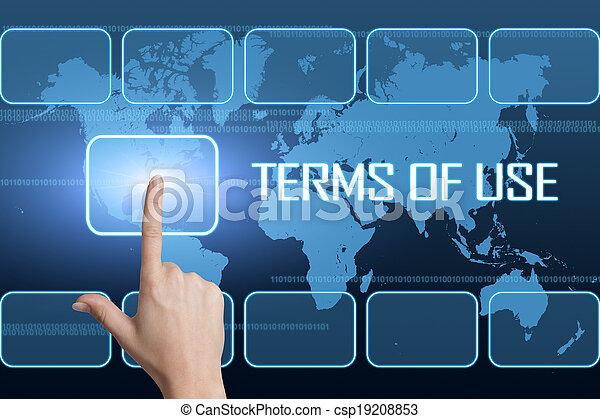 Los términos de uso - csp19208853