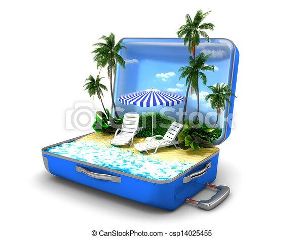 Vacaciones de playa - csp14025455