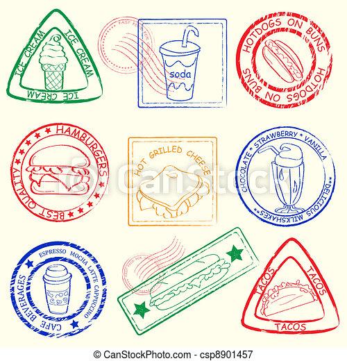 Estampillas de comida rápida - csp8901457