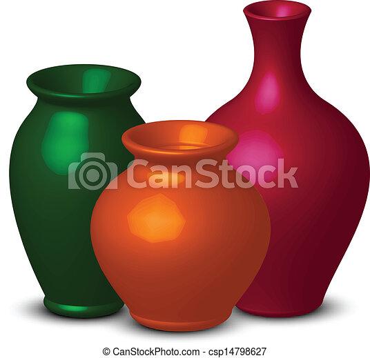 Vasos coloridos - csp14798627