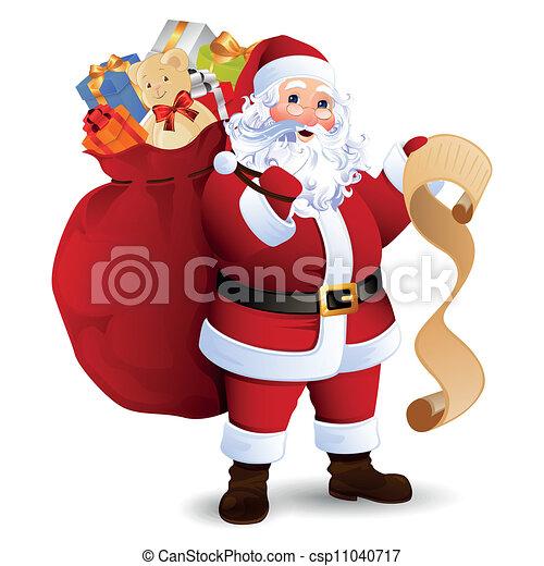 Vector Santa Claus - csp11040717