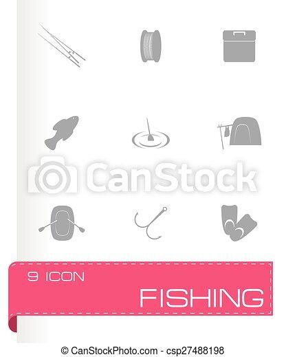 Icono de pesca Vector - csp27488198