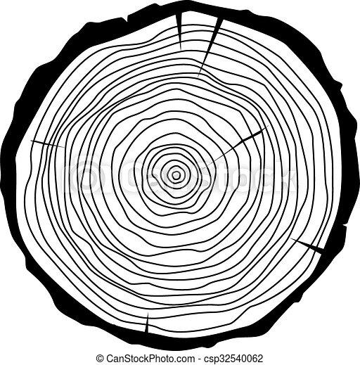 Vector de anillos de árbol - csp32540062