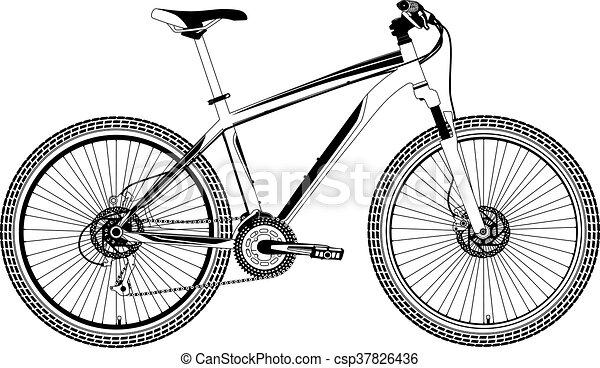 Vector de bicicleta de montaña - csp37826436