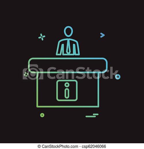 Vector de diseño de iconos de recepción - csp62046066