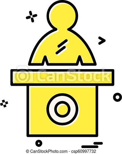 Vector de diseño de iconos de recepción - csp60997732