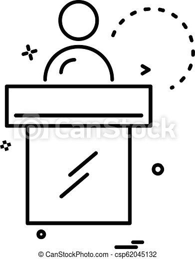 Vector de diseño de iconos de recepción - csp62045132