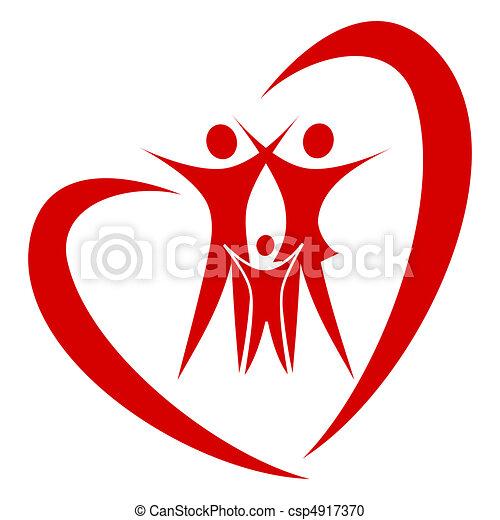 Vector de la familia del corazón - csp4917370