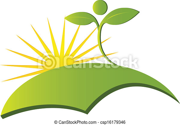 Vector de logo de la naturaleza sana - csp16179346