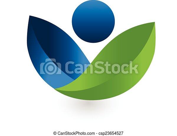 Vector de logo de la naturaleza sana - csp23654527