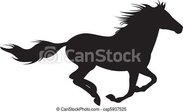 Vector de silueta de caballo - csp5937525