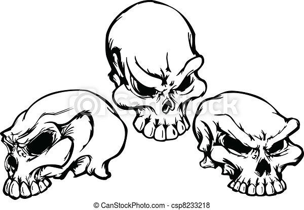 Cráneos con vector gráfico - csp8233218