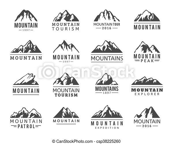 iconos vectores de montaña listos - csp38225260