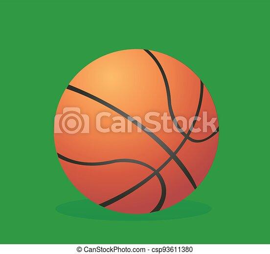 vector, ilustración, baloncesto - csp93611380