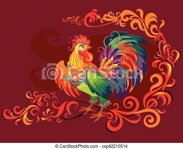 Vector imagen de gallo - csp42210514