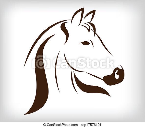 Vector jefe de caballo - csp17576191
