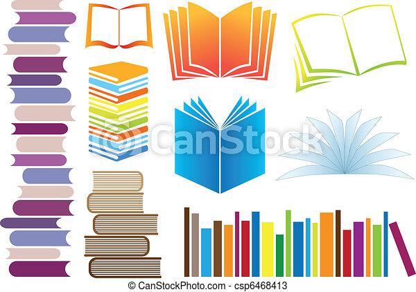 Libros de vectores - csp6468413