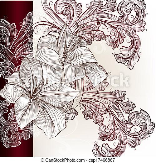 Tarjeta de invitación para la boda con Lily - csp17466867