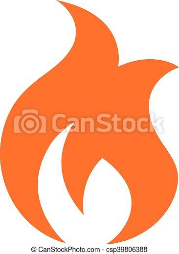 Icono vector llamas - csp39806388