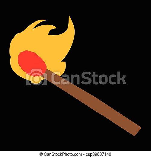 Compara el icono vector de la llama - csp39807140