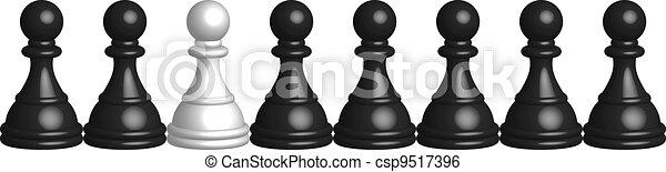 Ilustración del vector de negro y Q - csp9517396