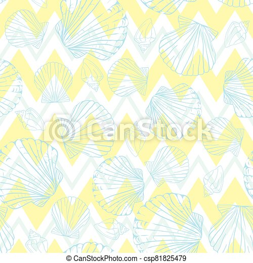 vector, pattern., concha marina, seamless, venera, fondo. - csp81825479