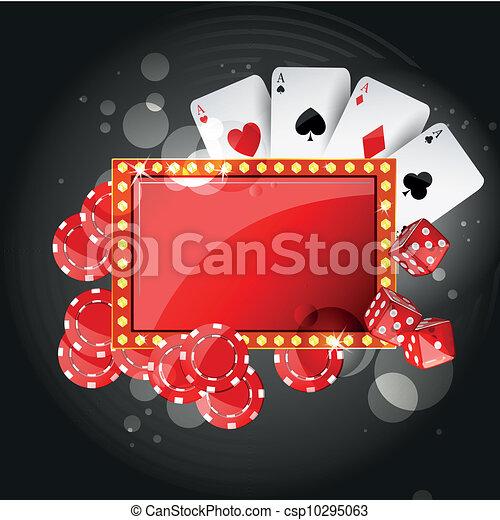 Un fondo del casino del vector - csp10295063