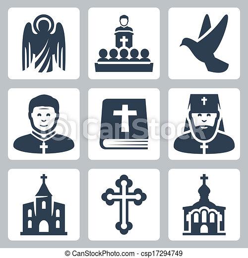 Los iconos de religión Vector Christian - csp17294749