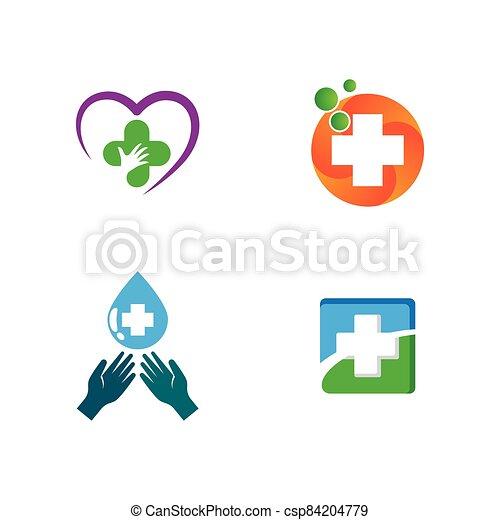 vector, símbolo, icono, cruz, médico - csp84204779