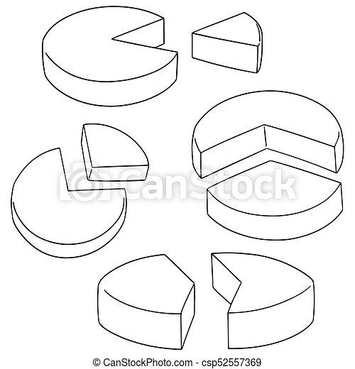 Vector set de gráfico de pastel - csp52557369