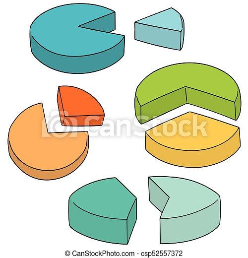 Vector set de gráfico de pastel - csp52557372