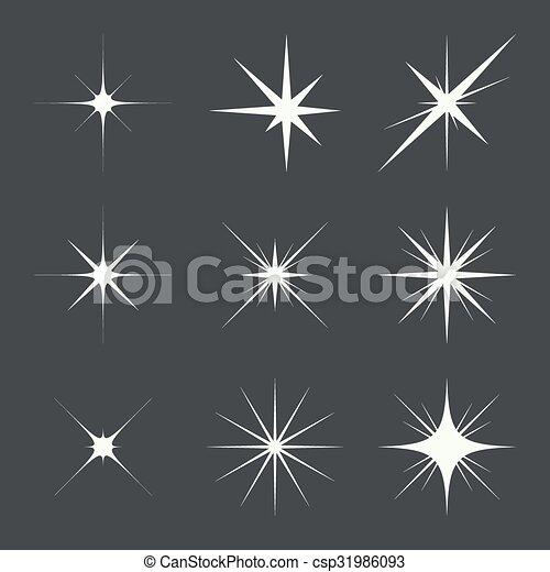 Vector set de luces brillantes - csp31986093