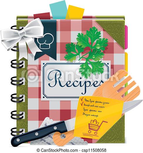Libro de Cocina Vector XXL - csp11508058