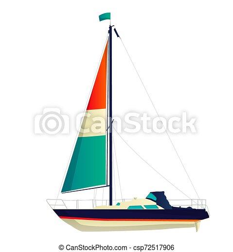 Navegando vector de yate - csp72517906