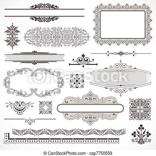 Vectores de elementos de decoración de páginas - csp7750559