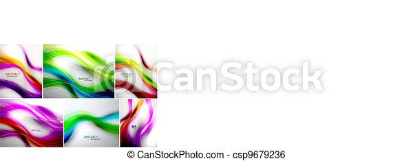 Vectores de fondo de onda - csp9679236