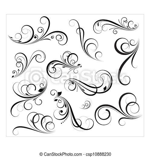 Vectores Swirls - csp10888230