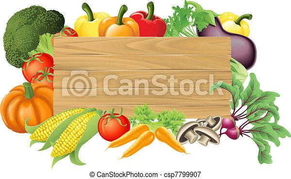 Ilustración de madera vegetable - csp7799907