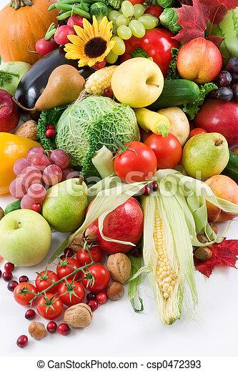 Frutas y verduras - csp0472393