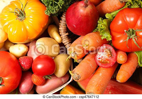 Fruta y verduras - csp47647112