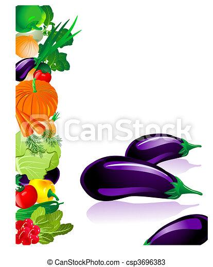 Las verduras berenjenas - csp3696383