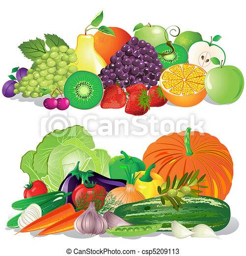 Fruta y verduras - csp5209113