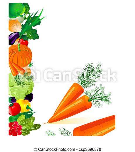 Las verduras son zanahorias - csp3696378