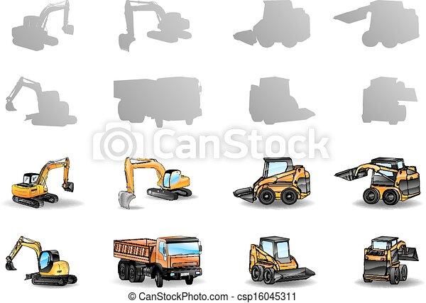 Vehículos de construcción - csp16045311