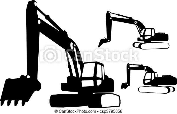 Vehículos de construcción (vector) - csp3795856