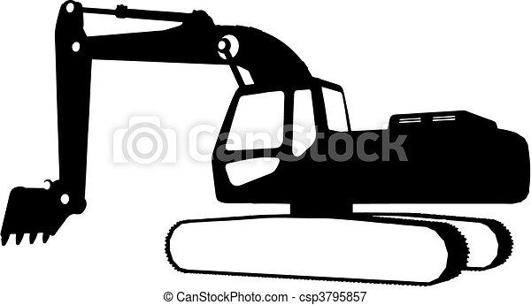 Vehículos de construcción (vector) - csp3795857
