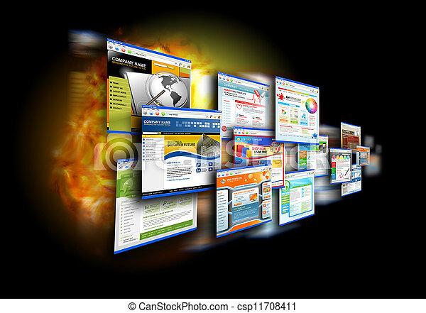 Web de velocidad en Internet en negro - csp11708411