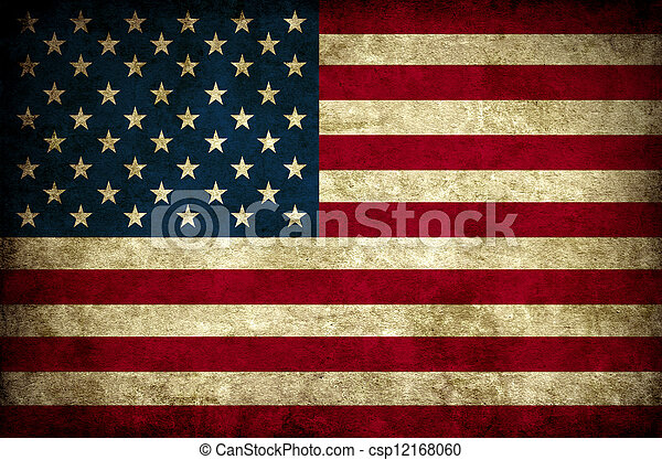 Vintage nos bandera - csp12168060