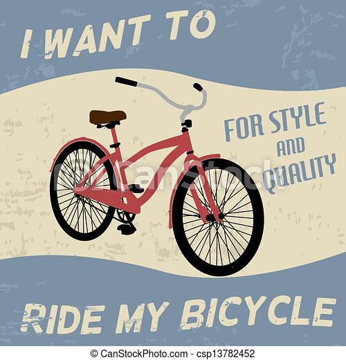 Afiche de bicicletas - csp13782452