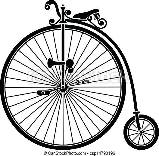 Una bicicleta de vintage - csp14790196